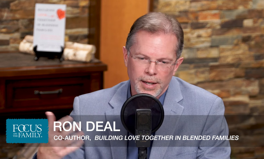 Ron Deal speaking during an appearance on Focus on the Family with Coauthor Dr. Gary Chapman.